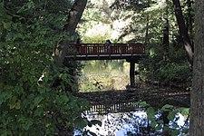 Poznań, Park Sołacki ,mostek nad stawem - 110