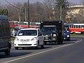 Praha, U Prašného mostu, START 2010, konvoj Obama 04.jpg
