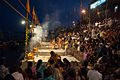 Preparation of Ganga aarti at Dasaswamedh Ghat, Varanasi 01.jpg