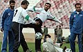 President Mahmoud Ahmadinejad, Iran's national football (soccer) team - 28 February 2006 (12 8412090596 L600).jpg