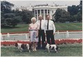 President and Mrs. Bush show Russian President Boris Yeltsin the South Grounds of the White House and stop at the... - NARA - 186451.tif