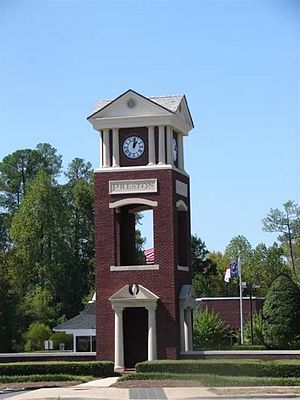 Cary, North Carolina - The Preston Clocktower in West Cary