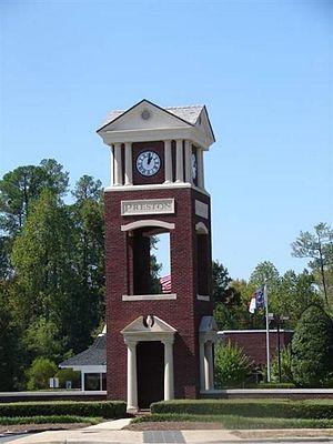 Cary, North Carolina - The Preston Clocktower in West Cary