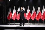 Prezydent Andrzej Duda podczas odsłonięcia pomnika Lecha Kaczyńskiego.jpg