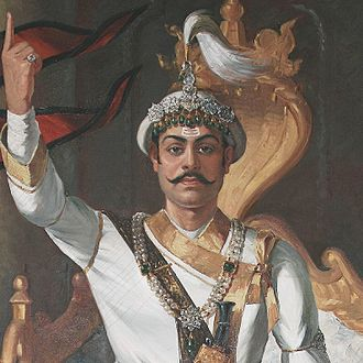 Shah dynasty - King Prithvi Narayan Shah, the last king of Gorkha Kingdom (1743-1768) and the first Shah king of Nepal (1768-1775)