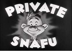 Opening card of Private Snafu