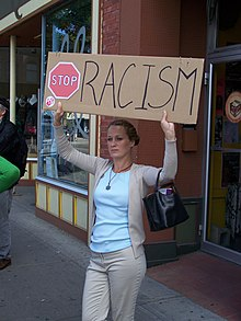 Protest Racism in the Kensington community of Calgary Alberta 2007.jpg