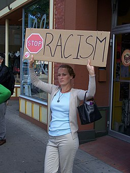 Protest Racism in the Kensington community of Calgary Alberta 2007