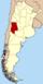 Lage der Provinz Mendoza