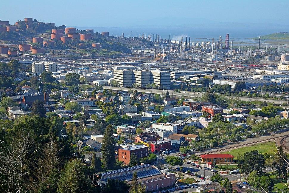 Pt. Richmond and Chevron Refinery, Richmond CA in 2016