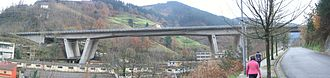 Autopista AP-8 - AP-8 viaduct in Eibar.