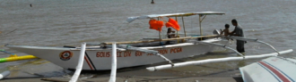 Pump boat - A pump boat used by the Philippine Coast Guard Auxiliary in Iloilo City
