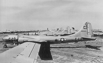Pyote Air Force Base - B-29 Superfortresses stored at Pyote AAF during the late 1940s.  Boeing B-29A-35-BN Superfortress AAF Ser. No. 44-61527 in foreground.