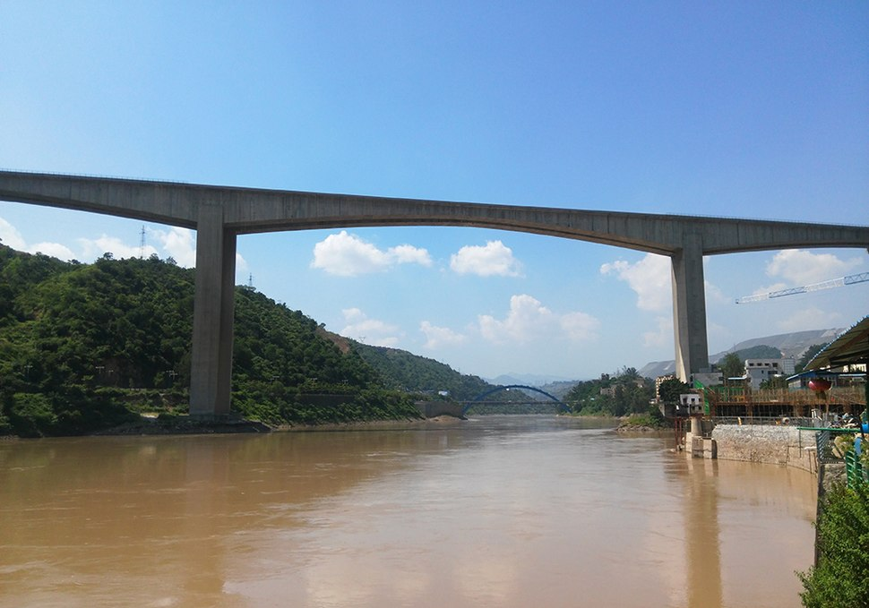 Qinglongshan Bridge of Chengdu-Lijiang Expressway.jpg