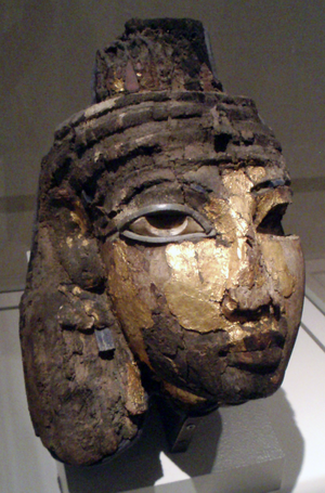 Tiye - Fragmentary funerary mask of Queen Tiye - in the Ägyptisches Museum collection in Berlin