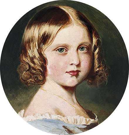 Queen Victoria painted a portrait of Princess Louise after an original by Franz Xaver Winterhalter Queen Victoria (1819-1901), after Franz Xavier Winterhalter - Portrait of Princess Louise (1848-1939).jpg