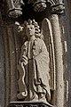 Quimper - Cathédrale Saint-Corentin - Statue des Voussures du portail - PA00090326 - 0004.jpg