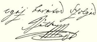 Ádám Récsey - Image: Récsey Ádám signature