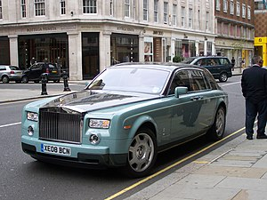 Luxury goods - Rolls-Royce Phantom is a luxury vehicle