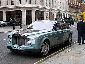 Luxury goods - Rolls-Royce Phantom is a luxury vehicle