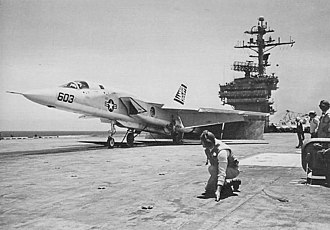RVAH-14 - Image: RA 5C RVAH 14 on cat of USS Kennedy (CVA 67) c 1970