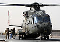 RAF Merlin Helicopter Embarks Troops at Camp Bastion, Afghanistan MOD 45153337.jpg