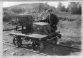 Railway jigger belonging to the Taupo Totara Timber Company, and H Taylor ATLIB 339489.png