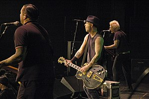 Rancid (band) - from left to right: Matt Freeman, Tim Armstrong and Lars Frederiksen