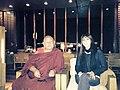 Randa Kassis with Mynak Tulku, a spiritual Buddhist leader in the Kingdom of Bhutan and the 10th reincarnate lama of Mynak Rinpoche, in Thimphu.jpg