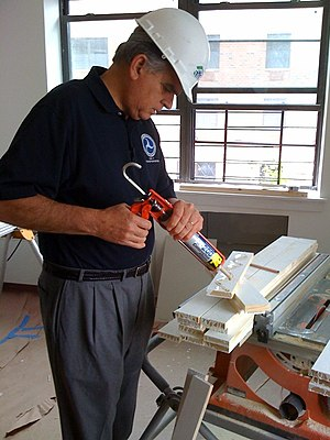 Ray LaHood - LaHood works on a Habitat for Humanity project in Brooklyn, New York City, June 2009