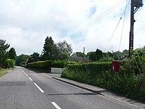 Raymonds Hill, postbox No. EX13 133, Crewkerne Road - geograph.org.uk - 1352786.jpg