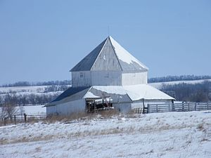 Octagonal barn in Rea on the National Register of Historic Places