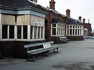 Ballymena railway station - Platform 1 during rebuilding works