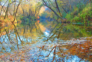 Red River (Kentucky River) - Autumn river landscape on the lower Red River
