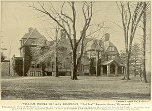 "Wynnewood, Pennsylvania - ""Red Leaf"" William P. Henszey mansion, 510-14 Lancaster Avenue, Wynnewood (burned 1898)"