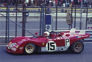 Clay Regazzoni - Regazzoni in a Ferrari 312PB at the 1971 Nürburgring 1000km