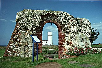 Old Hunstanton Lighthouse - Image: Remains Of St Edmunds Chapel And Lighthouse Hunstanton(Christine Matthews)Jul 1992