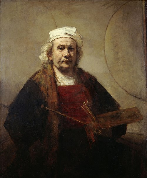 Rembrandt; Self-Portrait with Two Circles; c. 1665-1669; oil on canvas; Kenwood House (London) Rembrandt Self-portrait (Kenwood).jpg