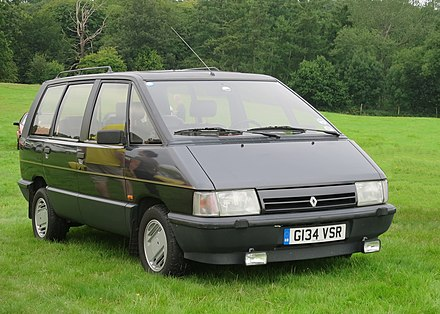 1985 Renault Espace, the first European multi-purpose vehicle Renault Espace 2165cc manufactured 1990 first registered UK November 1995 (lhd).JPG