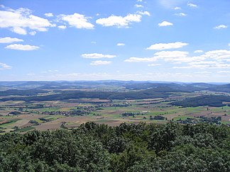 View from Soisberg to the south into the Rhön