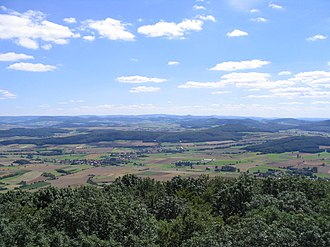 Rhön Mountains - View from the Soisberg looking south towards the Rhön