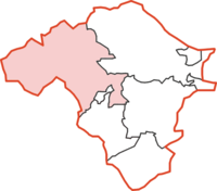 Rhayader Rural District within Radnorshire