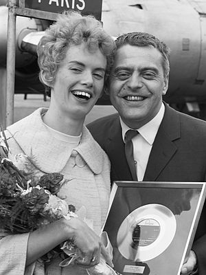 Stig Anderson - Stig Anderson and Dutch singer Ria Valk (1961)