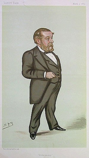 "Richard A. Proctor - ""Astronomy"" Richard Proctor as caricatured by Spy in Vanity Fair, March 3, 1883"