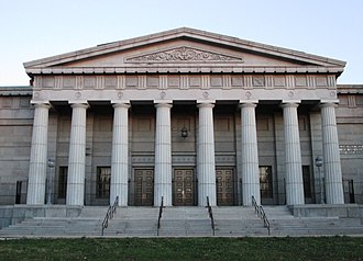 Philadelphia High School for the Creative and Performing Arts - The center section of the Ridgeway Library building