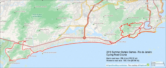 Cycling at the 2016 Summer Olympics – Men's individual road race - 2016 Olympic Cycling Men's Road Course: 241.5 km