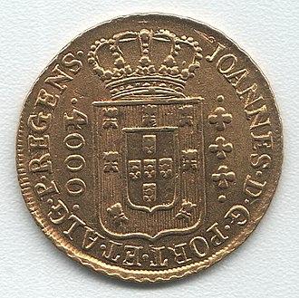 Brazilian real (old) - Image: Rio de Janeiro 4000 reis 1812 rv