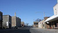 Ripon Wisconsin Downtown Looking West WIS23.jpg