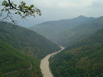 East Sikkim district - The Teesta River flows for almost the entire length of Sikkim.