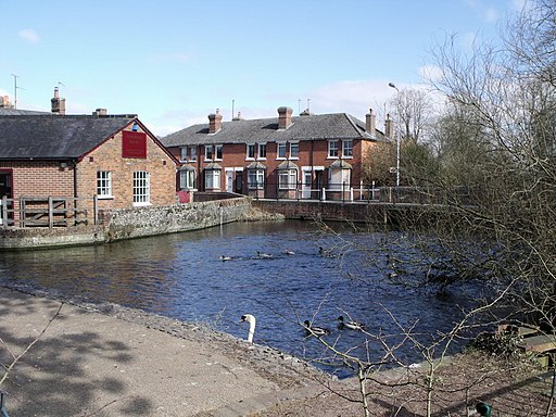River Test at Whitchurch Silk Mill - geograph.org.uk - 1770971